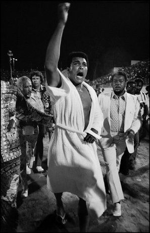 Kinshasa, Zaire - Ali arrives for the fight,  1974