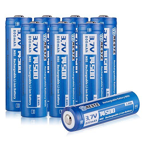 8 Pack 14500 Lithium Ion Batteries 3 7v 800mah Aa Rechargeable Battery For Camera Led Flashlight Led Flashlight Lithium Ion Batteries Rechargeable Batteries