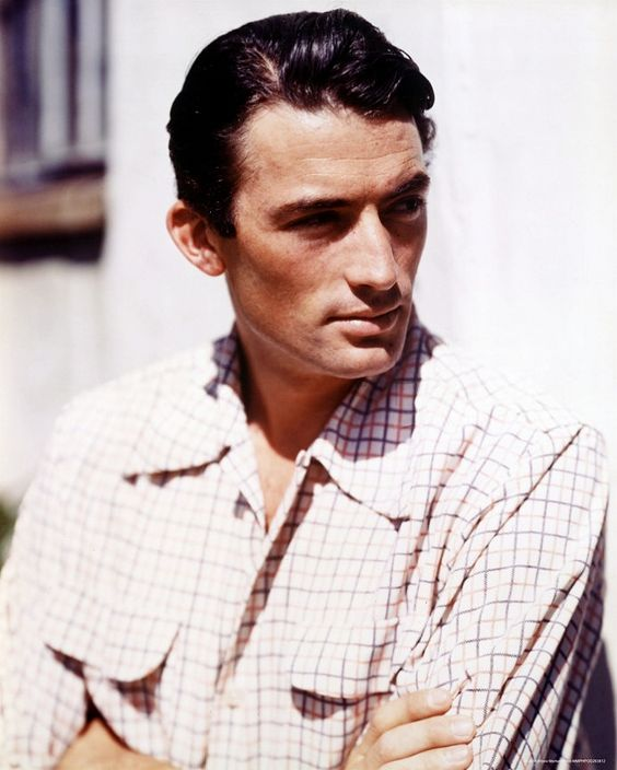 Gregory Peck. I think he's one of the most handsome men ever.