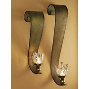 Ribbon Swirl Wall Sconce Set: Cats, Wall Sconces, Candle Sconces