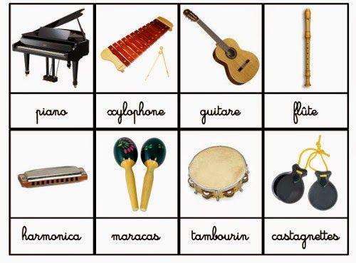 Souvent Crapouillotage: Cartes de Nomenclatures : Instruments de musique  PV18