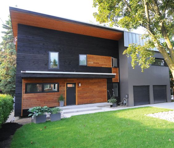 How To Make Charred Wood Siding Blue Prefabricated Wall