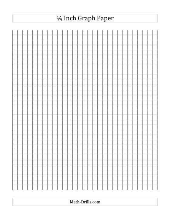 1 4 Inch Graph Paper A Math Worksheet Freemath
