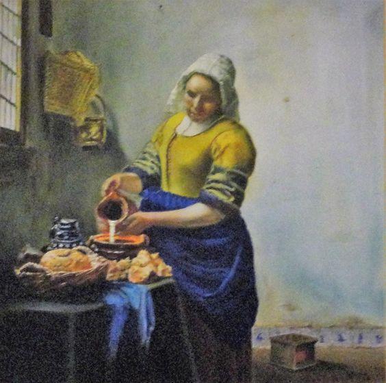 """""""A Leiteira"""" - Pintura a óleo sobre tela (com orientação (*))"""