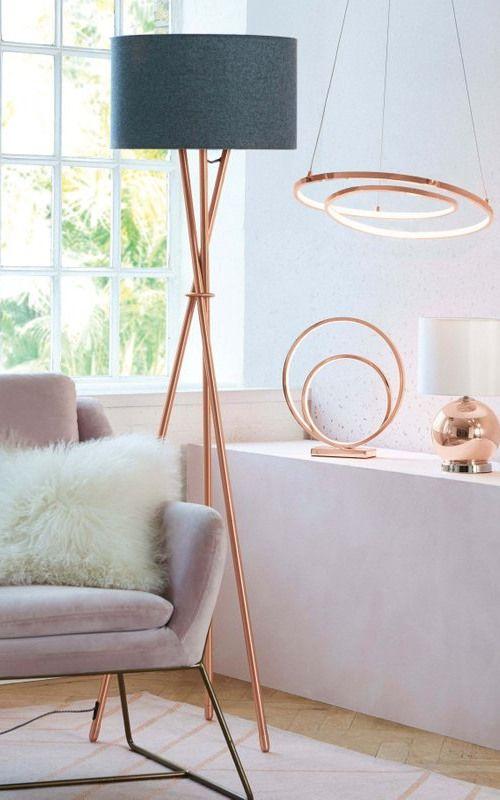 Next Tripod Floor Lamp Copper Copper Floor Lamp Floor Lamps Living Room Contemporary Floor Lamps