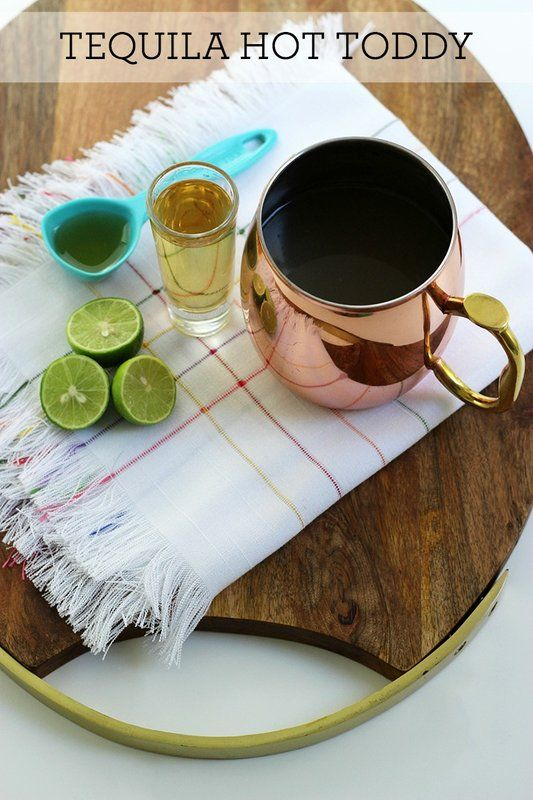 This recipe is a Mexican version of a hot toddy, using tequila, agave syrup and key limes. So good!