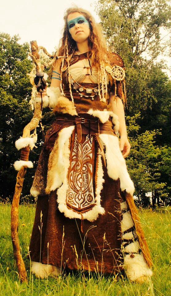 #Halloweenverkleidung als indianerin, vielleicht nicht ganz so gruselig aber…