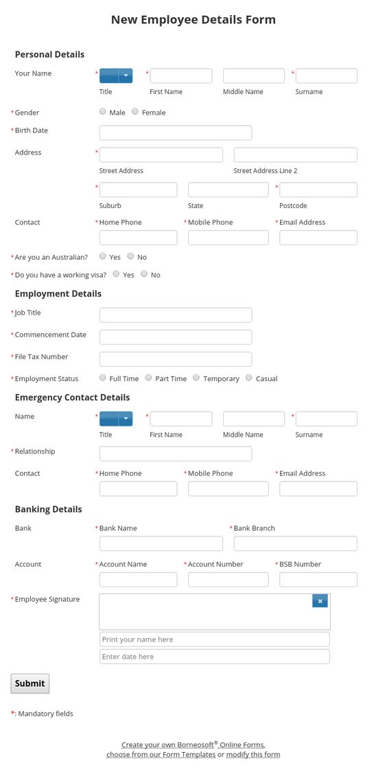 Expense Reimbursement Form By Borneosoft Online Forms