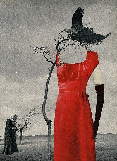 Branch Out, 2006. Collage by Angelica Paez., Pop art collage on paper