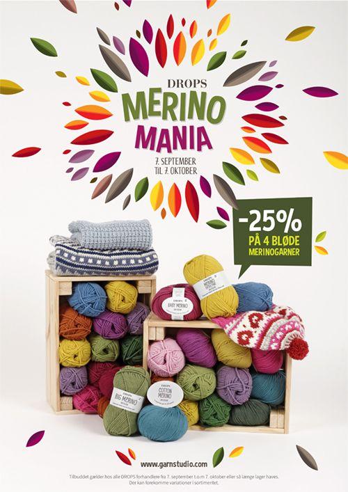 Little Adventure Set - S�ttet best�r af: Strikket DROPS hue i �Merino Extra Fine� med flerfarvet m�nster og pompon. Patentstrikket og snoet DROPS hals i �Merino Extra Fine�. Str 3 - 12 �r - Free pattern by DROPS Design