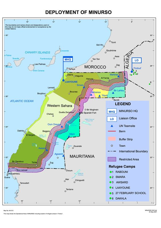 Western Sahara: deployment of MINURSO