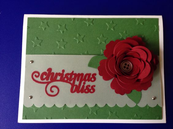 Stampin up Christmas bliss. Spiral flower die.