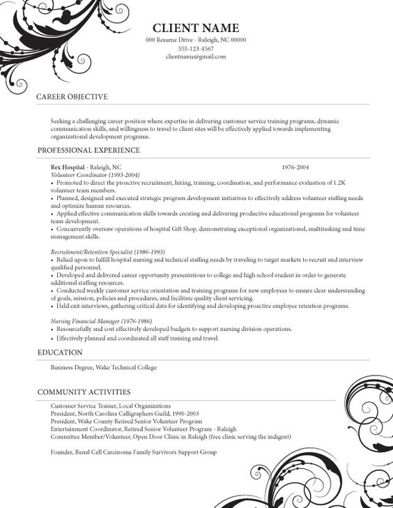 8 best resume images on pinterest professional resume template caregiver and resume templates caregiver resume - Caregiver Resume Template