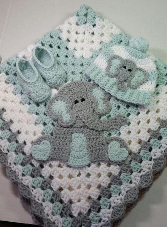 Crochet Blanket Elephant Lovey Baby Lovey Blanket Crochet Baby Blanket Elephant Nursery Elephant Blanket Baby Afghan Baby Blanket