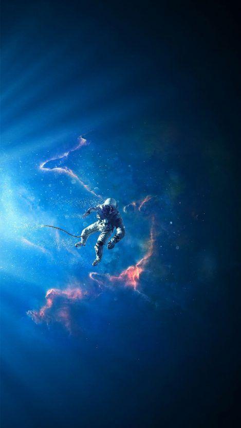 Blue Nebula Space Hd Iphone Wallpaper Iphone Wallpapers Space Artwork Wallpaper Space Astronaut Wallpaper