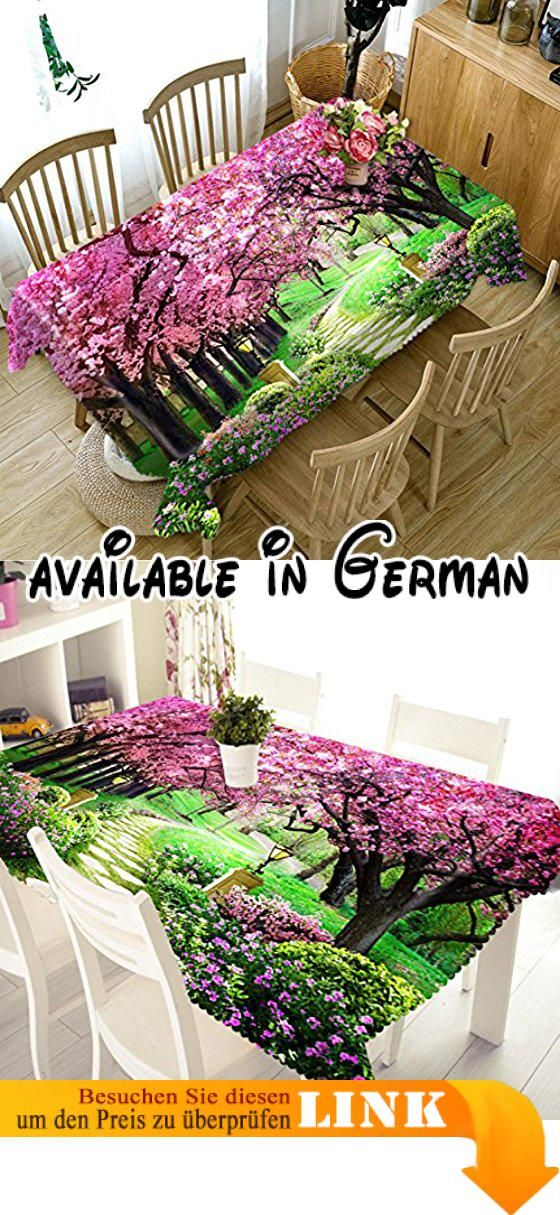 B0772TDCGK  Polyester Tischdecke 3D Naturlandschaft Druck - küche dekoration shop