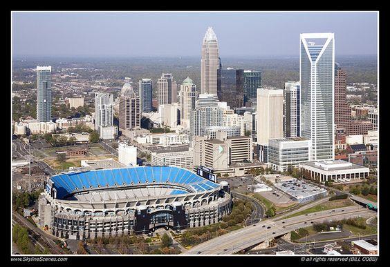 Charlotte Skyline with Bank of America Stadium by Bill Cobb SkylineScenes, via Flickr