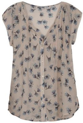 Merch Blog; don't know why, but this blouse reminds me of poor, doomed Ophelia.  Love the delicate, watery florals.: