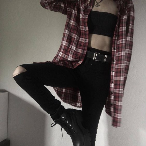 • ThePierced3moGirl °• #grungeoutfits