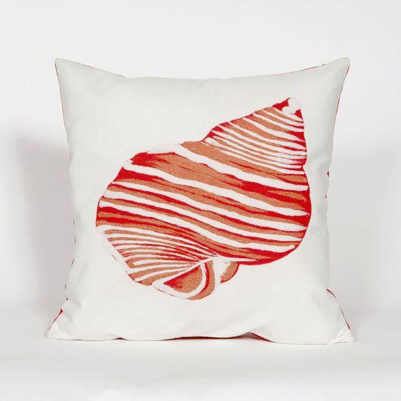 """Shell Orange Indoor/Outdoor 20"""" SQ Pillow"""
