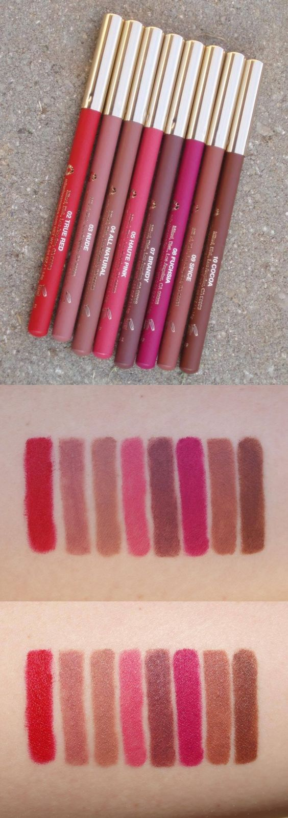 #Milani -- Milani Color Statement Lipliners #Swatches