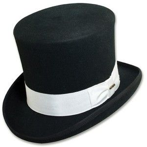 A Top Hat can be inverted conical or cylindrical, and can be tall or medium in height.