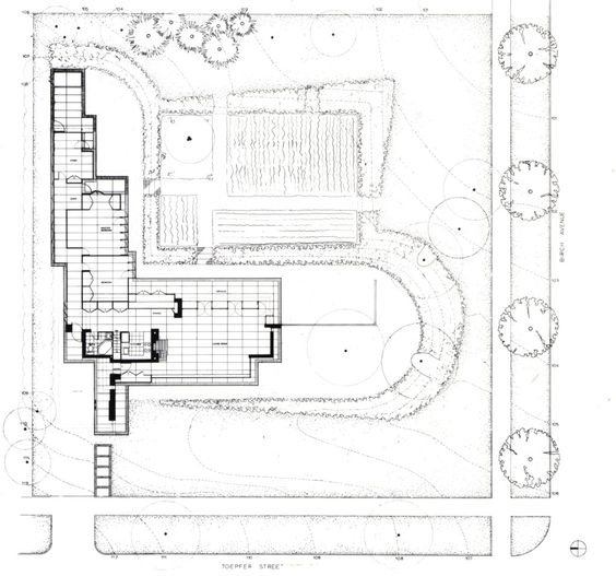 Landscape plan jacobs 1 house 441 toepfer ave for Usonian house plans