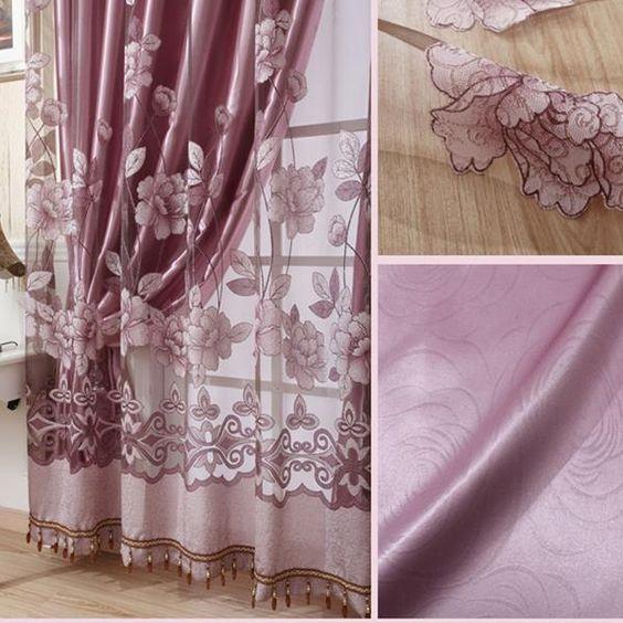 cortinasde lujo  transparentes para la sala