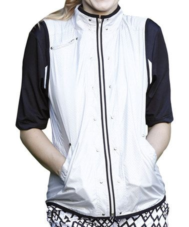 Another great find on #zulily! Chrome & Black Color Block Elite Jacket by GGblue #zulilyfinds