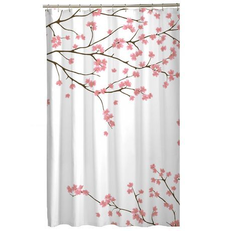cherry blossom fabric shower curtain bathroom pinterest shops cerises et maison. Black Bedroom Furniture Sets. Home Design Ideas