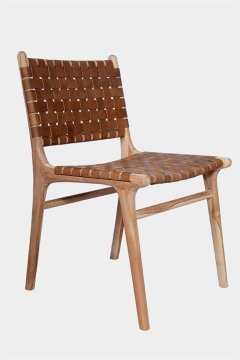 Criss Cross Dining Chair Teak Tan Fenton Fenton Furniture Diningchairs Dining Chairs Leather Dining Chairs Leather Dining Room Chairs