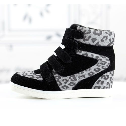 basket femme montante montante daim noir leopard scratch boyish high top sneakers fashion mode. Black Bedroom Furniture Sets. Home Design Ideas