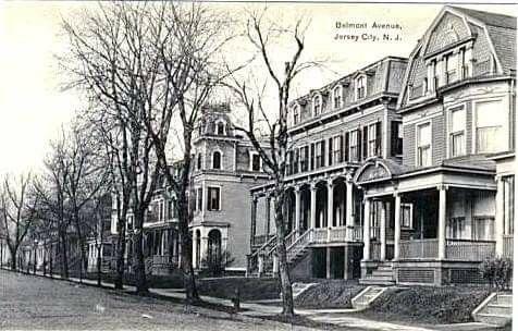 Belmont Avenue Jersey City N J C 1910 Postcard Jersey City City New Jersey