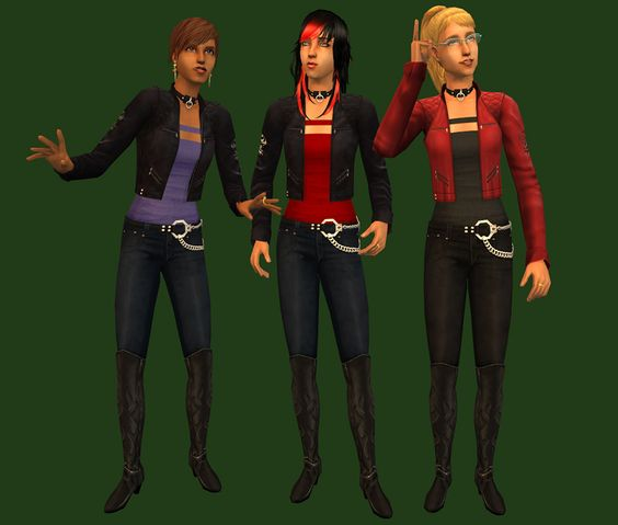 Mod The Sims - BootsCollar (& handcuffs) Outfit - replacement