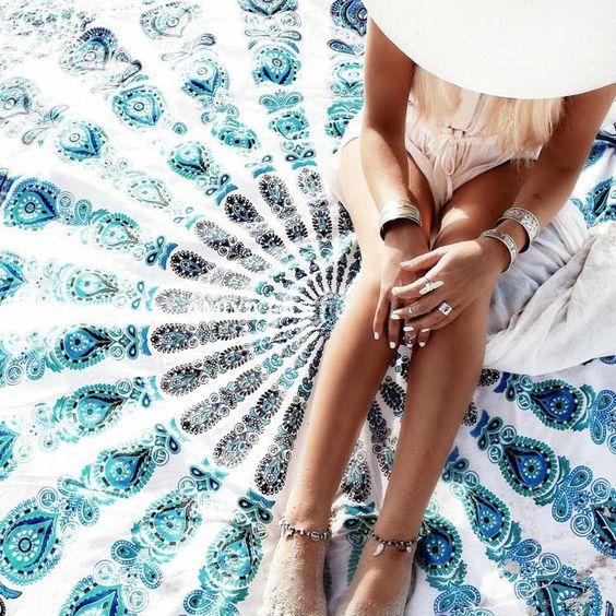 Bohemian Style Chiffon Beach Yoga Towel