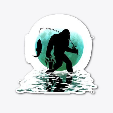 Bigfoot Sasquatch Yeti Bass Fishing Decal Sticker Fishing Decals Bigfoot Sasquatch Bigfoot