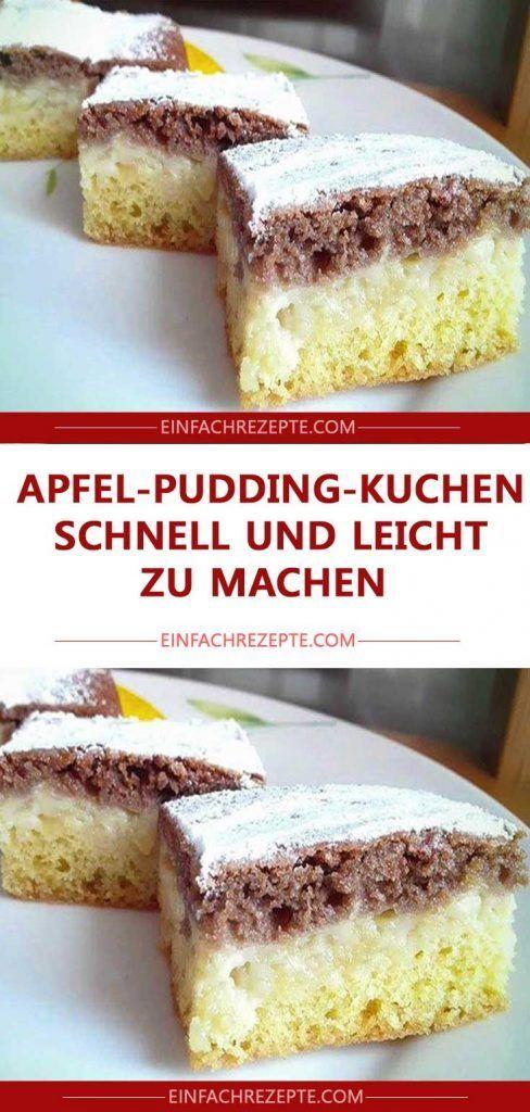 Apfel Pudding Kuchen Schnell Und Leicht Zu Machen Apfel Pudding Kuchen Pudding Kuchen Kuchen