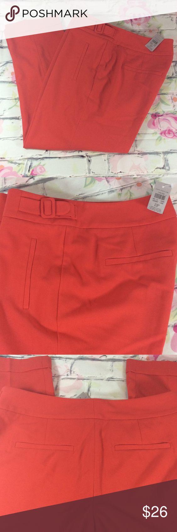 Ann Taylor Petite Cuffed Capri / Ankle Pants~NEW! Ann Taylor Petite Cuffed Capri / Ankle Pants ~ NEW! ~ Coral Color ~ Size 8P Ann Taylor Pants Ankle & Cropped