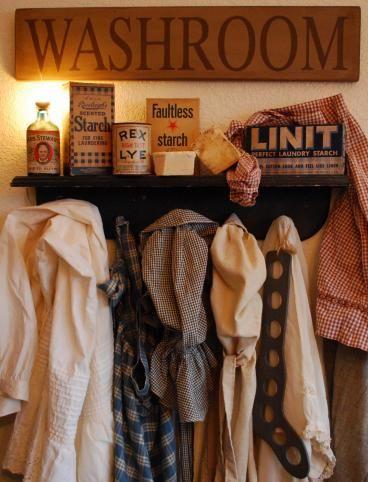 Country Primitives | Handmade Primitive Furniture, Decor, Antiques. Cute! I would love a laundry room. Mine is currently combined with the bathroom.