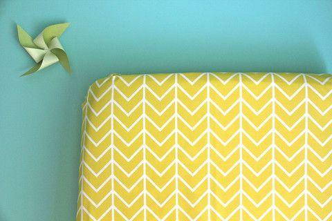 Yellow Chevron Crib Sheet   Iviebaby.com   Iviebaby