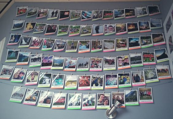 Polaroid photowall