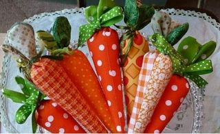 Easter fabric carrots