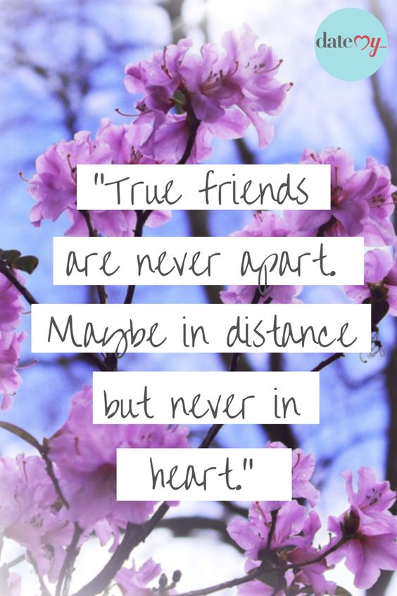 True friends are never apart, maybe in distance, but never in heart #quotes #friends #bff