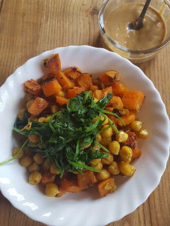 Vegan Protein Bowl with Amazing Tahini Sauce