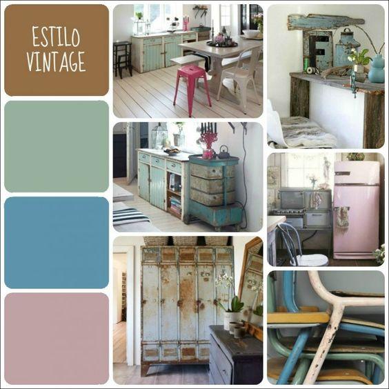 Tu paleta de colores seg n el estilo decorativo vintage - Colores para pintar una casa ...