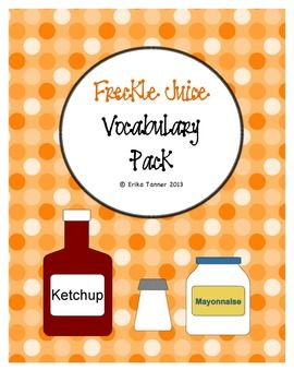 Printables Freckle Juice Worksheets freckle juice the ojays and writing assignments on pinterest this product is a worksheet pack that focuses vocabulary found in book juice