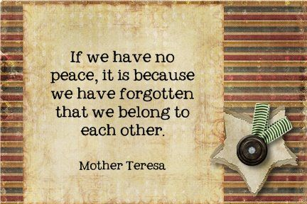 My idol - Mother Teresa