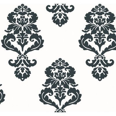 "York Wallcoverings 27' x 27"" Damask Wallpaper Color:"