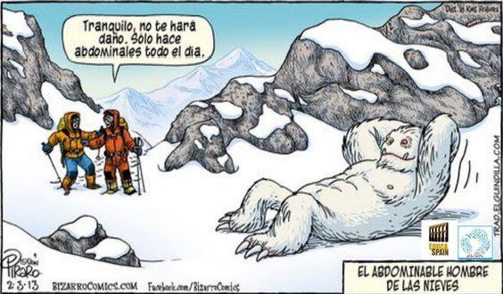 ¡El abDominable hombre de las nieves!