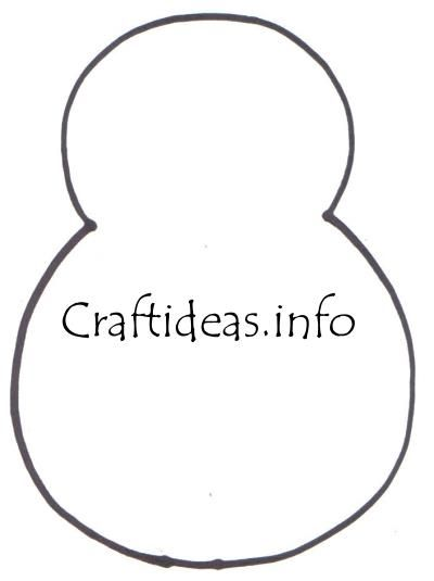Snowman Template  Gaby    Ornaments Patterns And Cloths